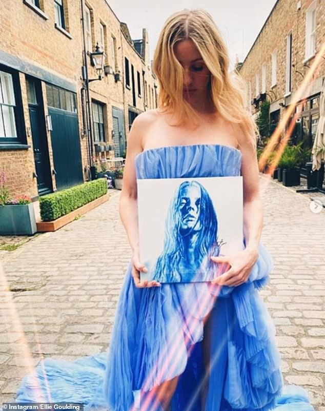 Ellie Goulding promoting her fourth studio album outside her London home. Photo: Ellie Goulding via Instagram