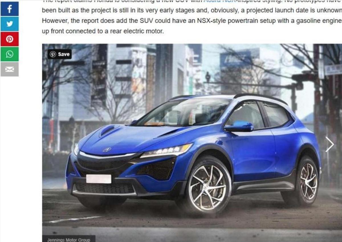 外媒繪製 Honda 全新運動型休旅的外觀預想圖。