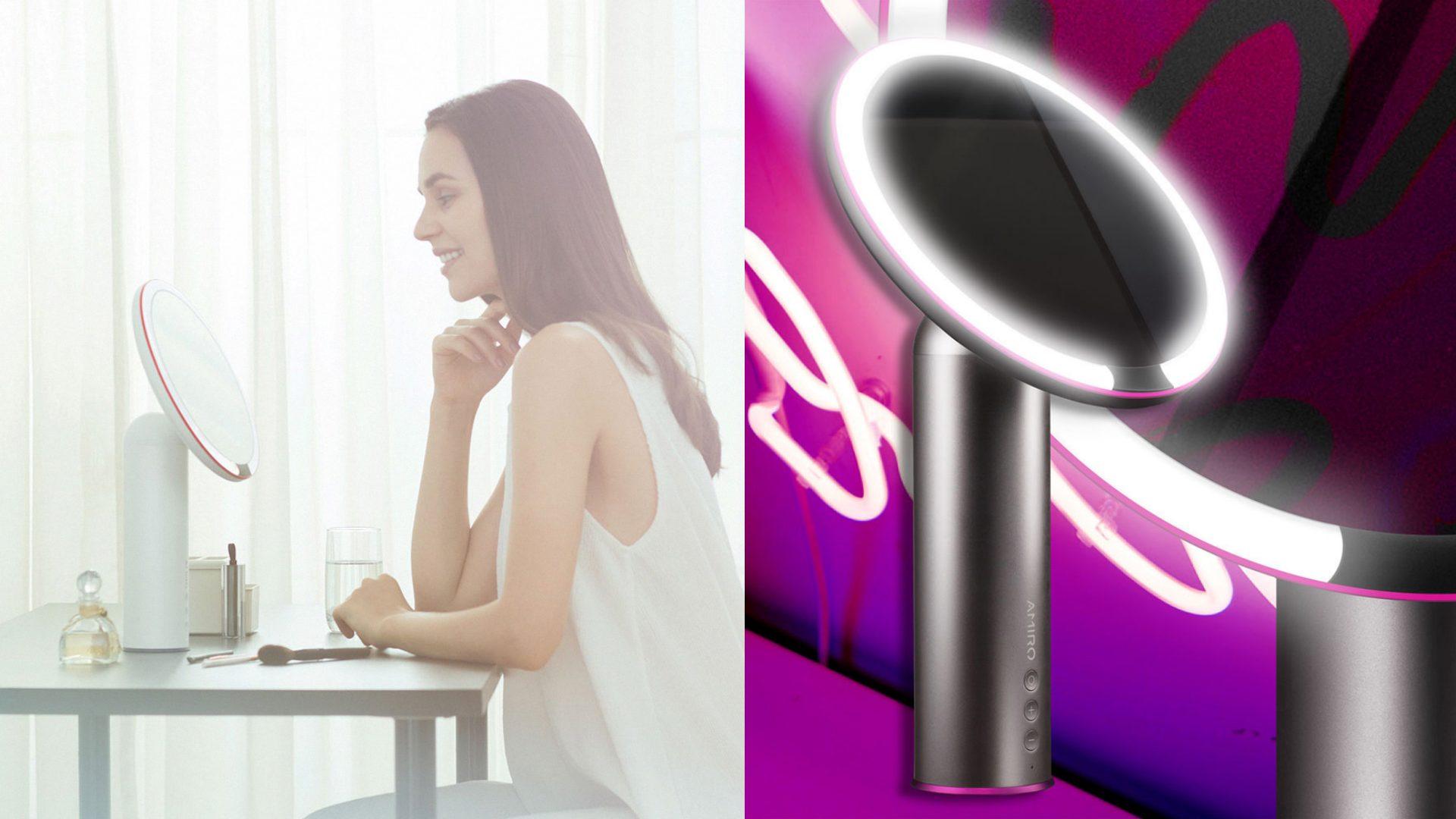 化妝時擁有充足的明亮光線真的很重要,這款化妝鏡就是配有直徑8吋的清晰大鏡面,並透過高顯色技術,三種光源自由調節