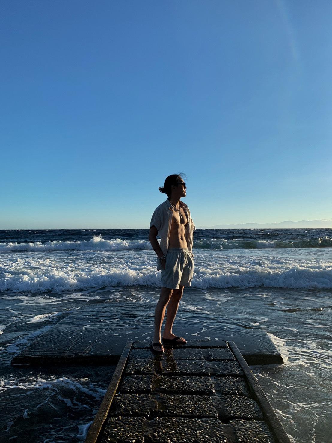 ▲綠島到處都有類似潛水步道,能拍出絕美海天一線的美景。