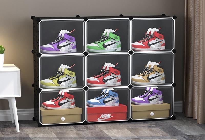 ▲9格9門籃球鞋防塵收納組合櫃,低至2折起的佛心價,快把心愛球鞋保護起來!(圖片來源:Yahoo購物中心)