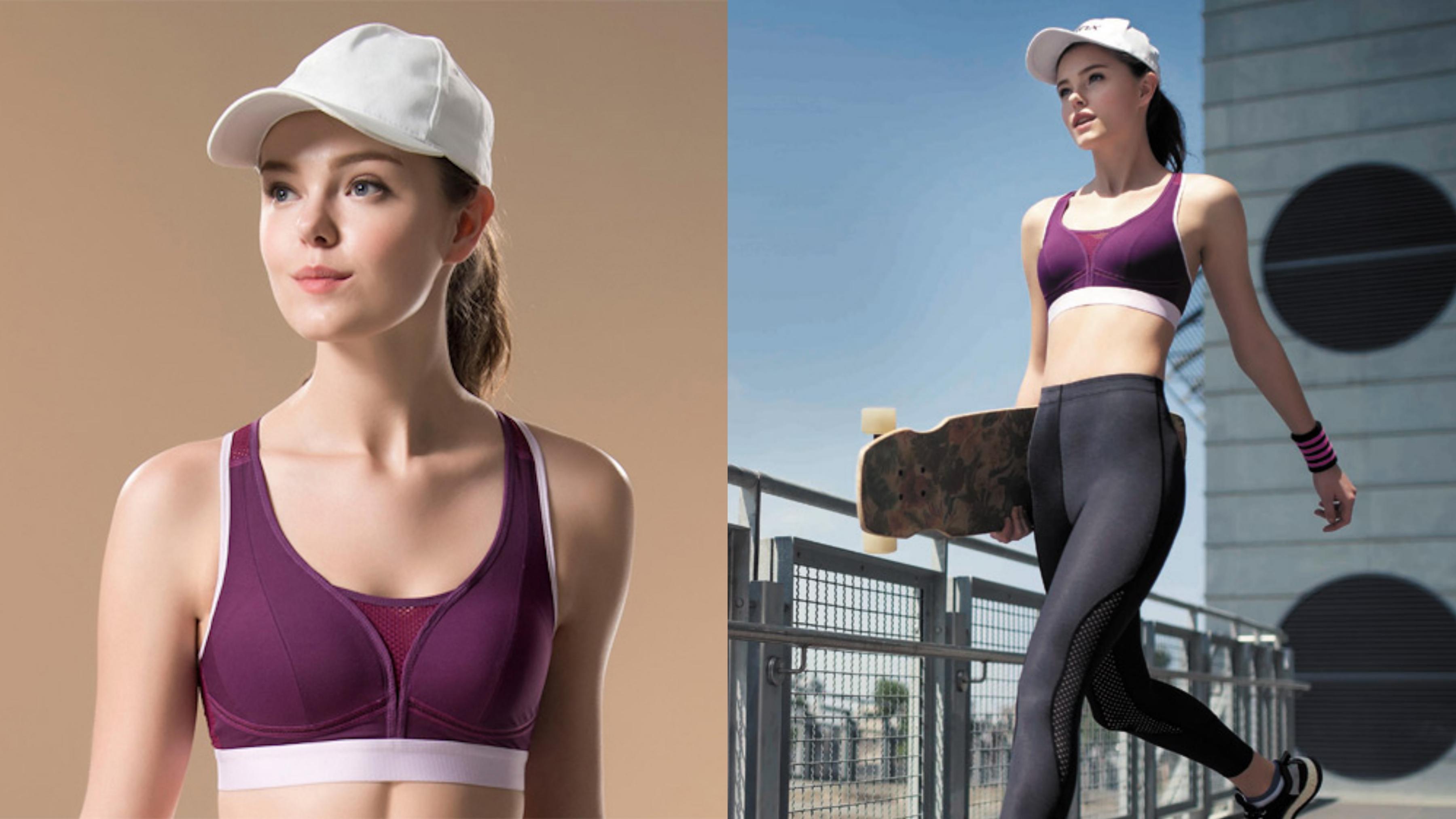 固定式罩杯支撐,並搭配胸部下緣透氣網洞織帶,好動敢動每一刻