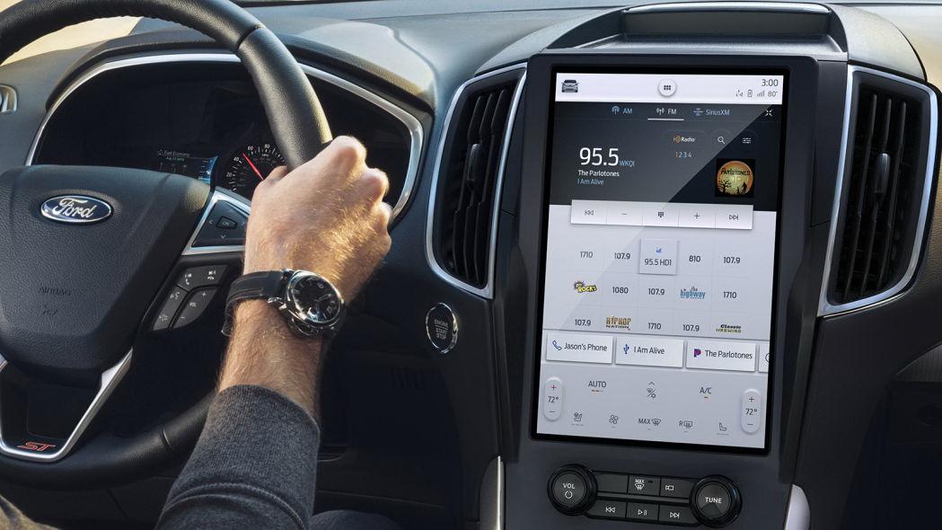 圖/Edge或Edge ST車系將把12吋中控台觸控螢幕列為標配,同時搭配最新版SYNC 4A娛樂通訊整合系統。