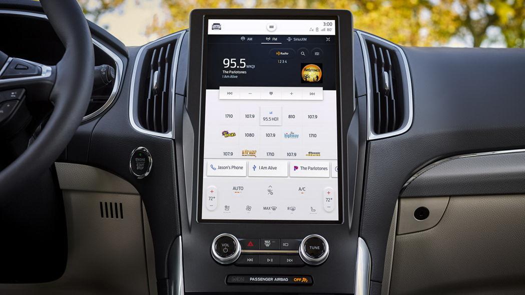 圖/12吋螢幕一次能顯示多個應用程式,特別是多工作業能有效發揮,SYNC 4A娛樂通訊整合系統更整合豐富的附加功能,特別是自動語音辨識能力媲美Amazon Alexa。