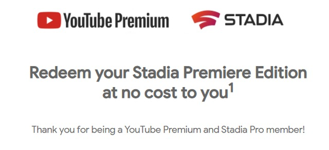 YouTube Premium x Stadia