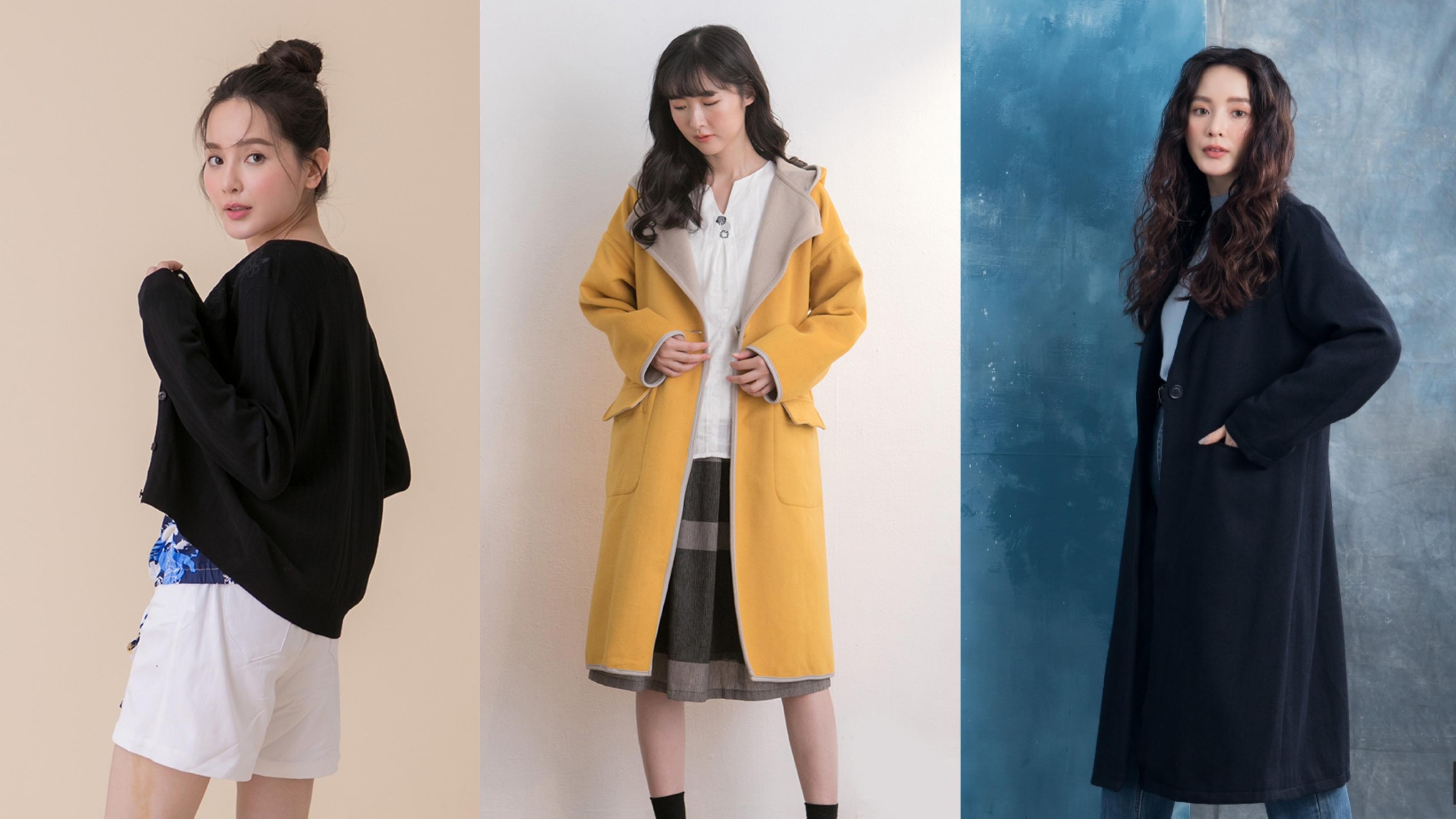 moss club集團全館$390起!時髦大衣、顯瘦洋裝、換季針織外套,多款百元價甜入手,一次打包帶走♡日韓系女孩不能錯過!