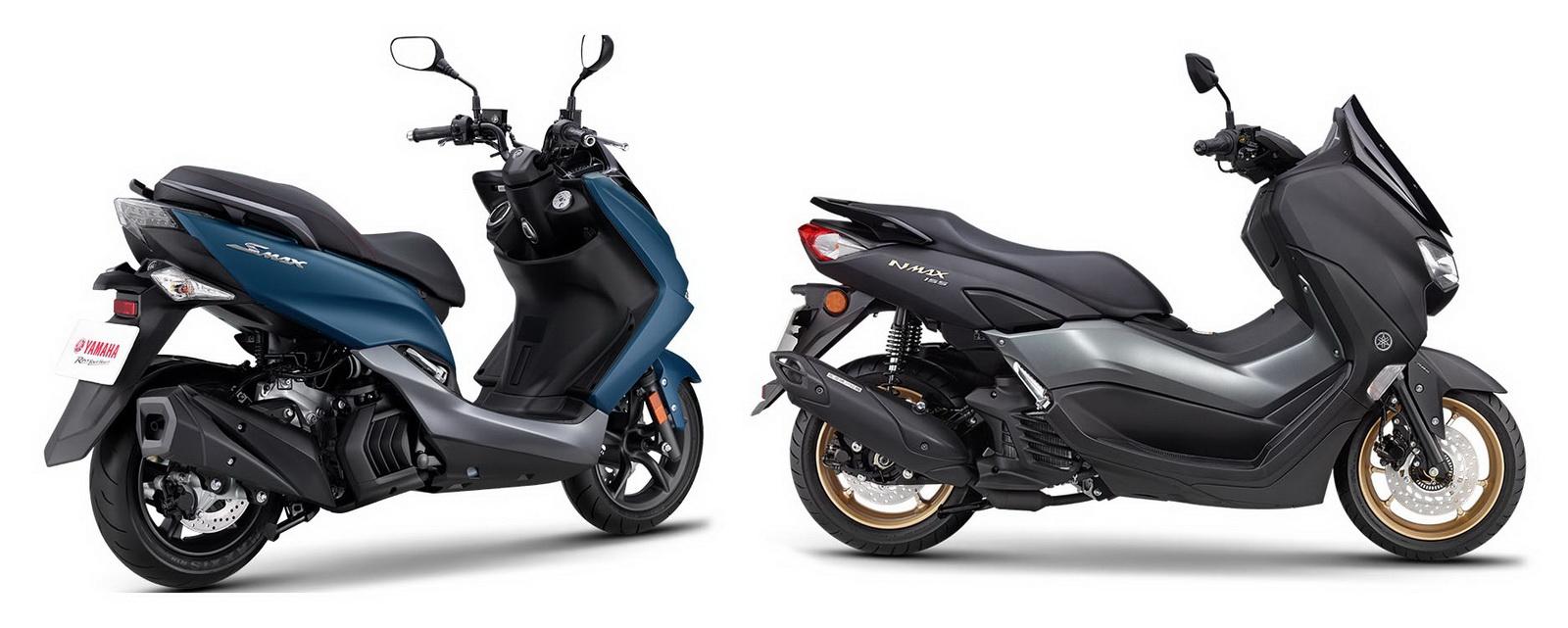 圖/2020 Yamaha SMAX 155 ABS與2020 Yamaha NMAX 155 ABS兩款皆採用水冷單缸SOHC 4V,排氣量為也都是155cc,價格為10.56萬對上11.8萬。