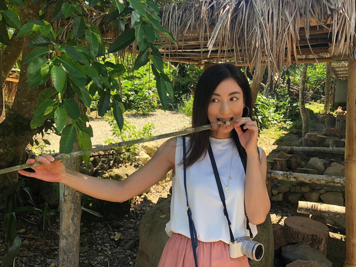 ▲這次赴台東雖僅兩天一夜,但大久保麻梨子仍品嚐到許多美食。