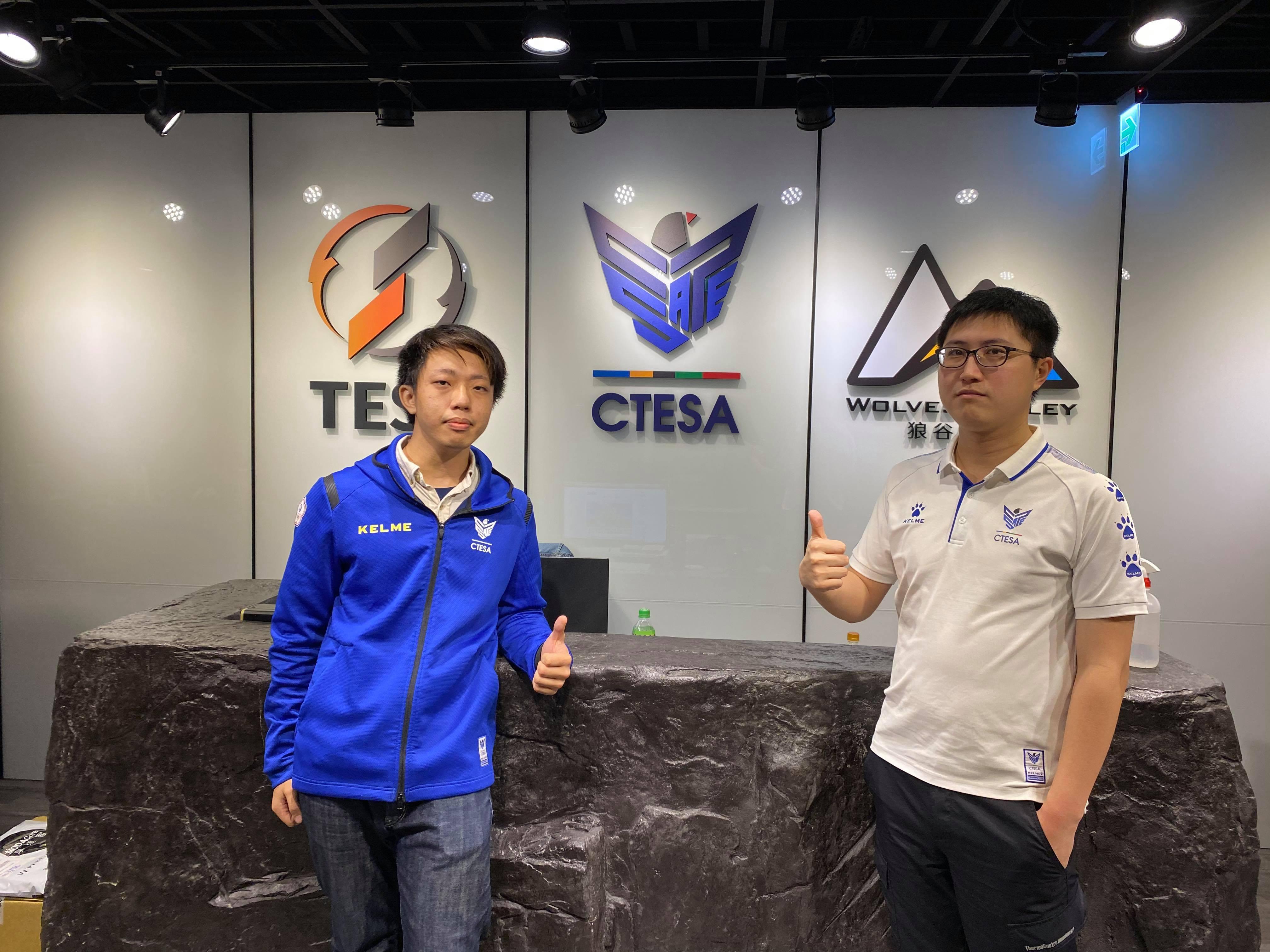 CTESA 協會副秘書長馮元愷 (左) 與白澤 (右)