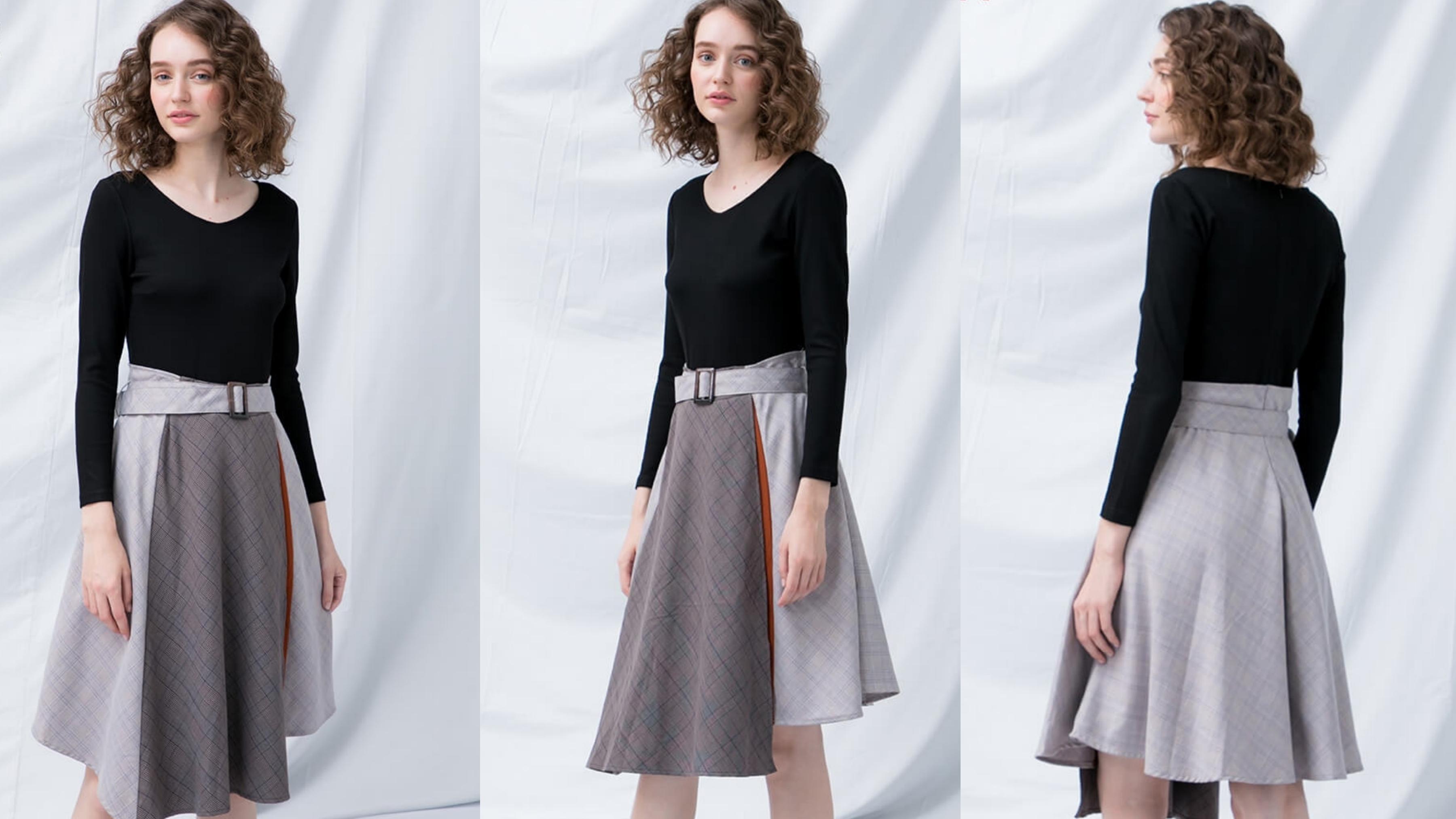 黑色拼接條紋設計超吸睛,結合挺版舒適布料,穿上更顯修長