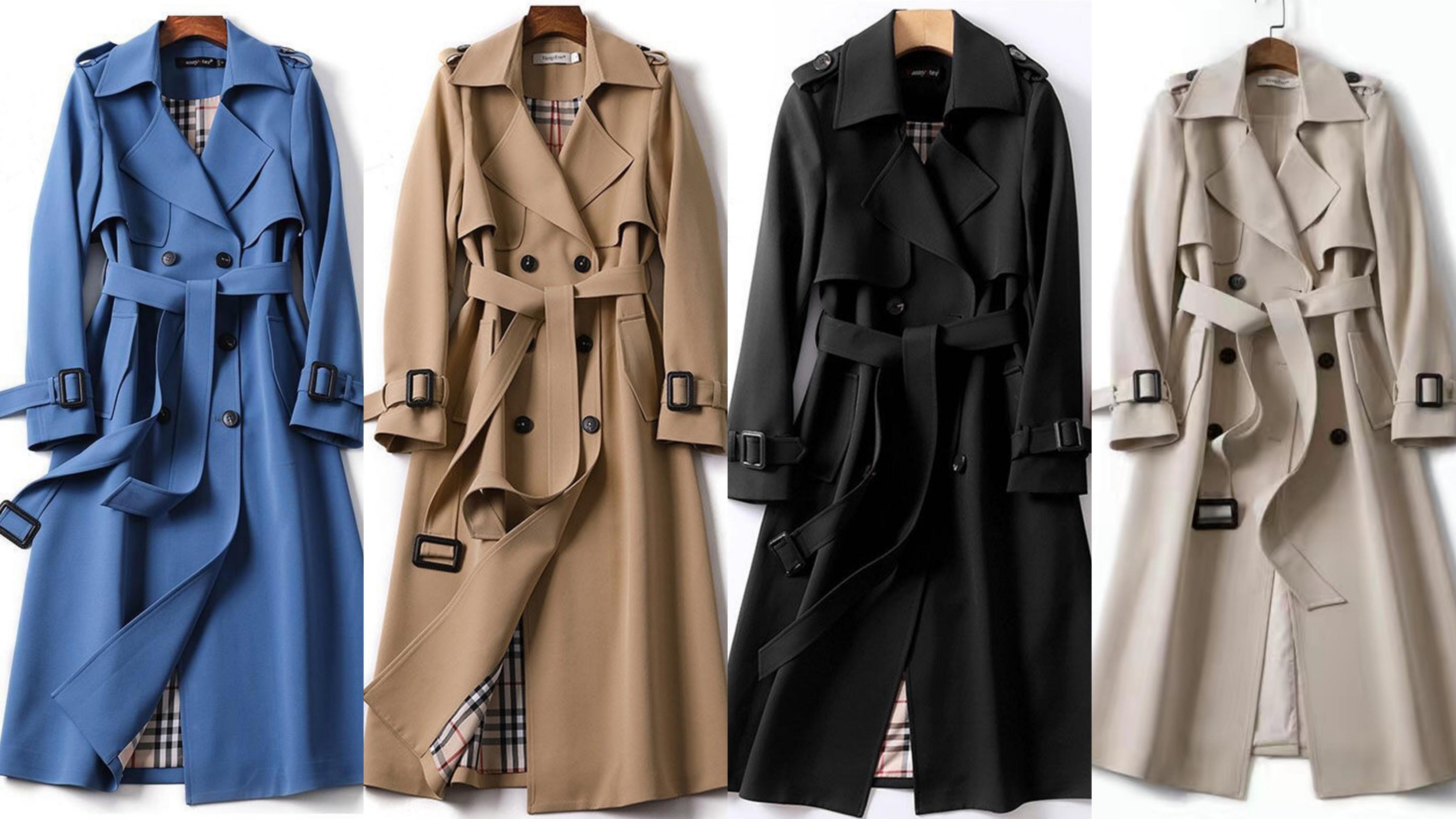 冬必備的顯瘦風衣款式,硬挺的面料,讓穿上更有氣勢感