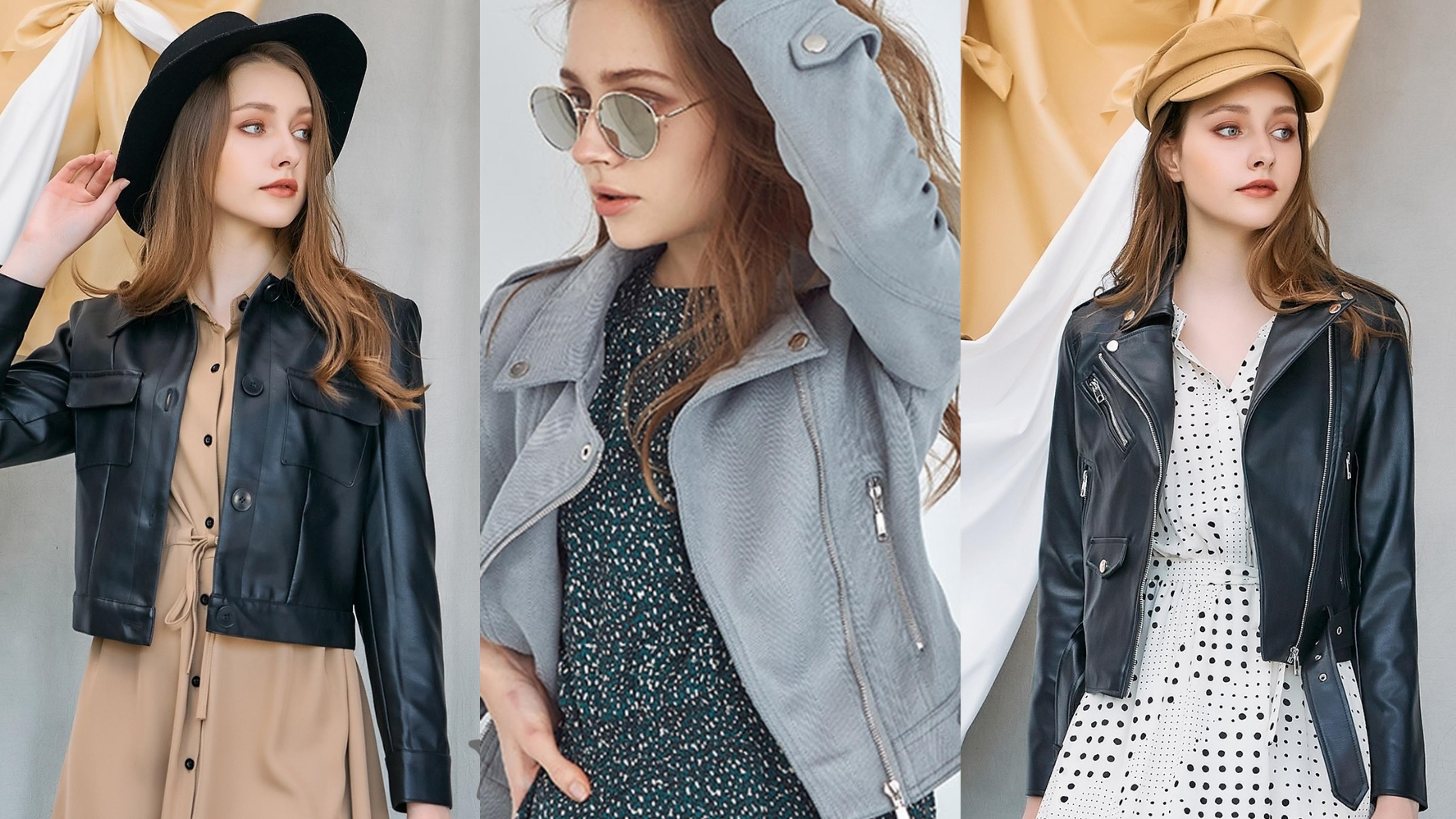 穿上時髦帥氣的合身外套,短版設計更能修飾身形