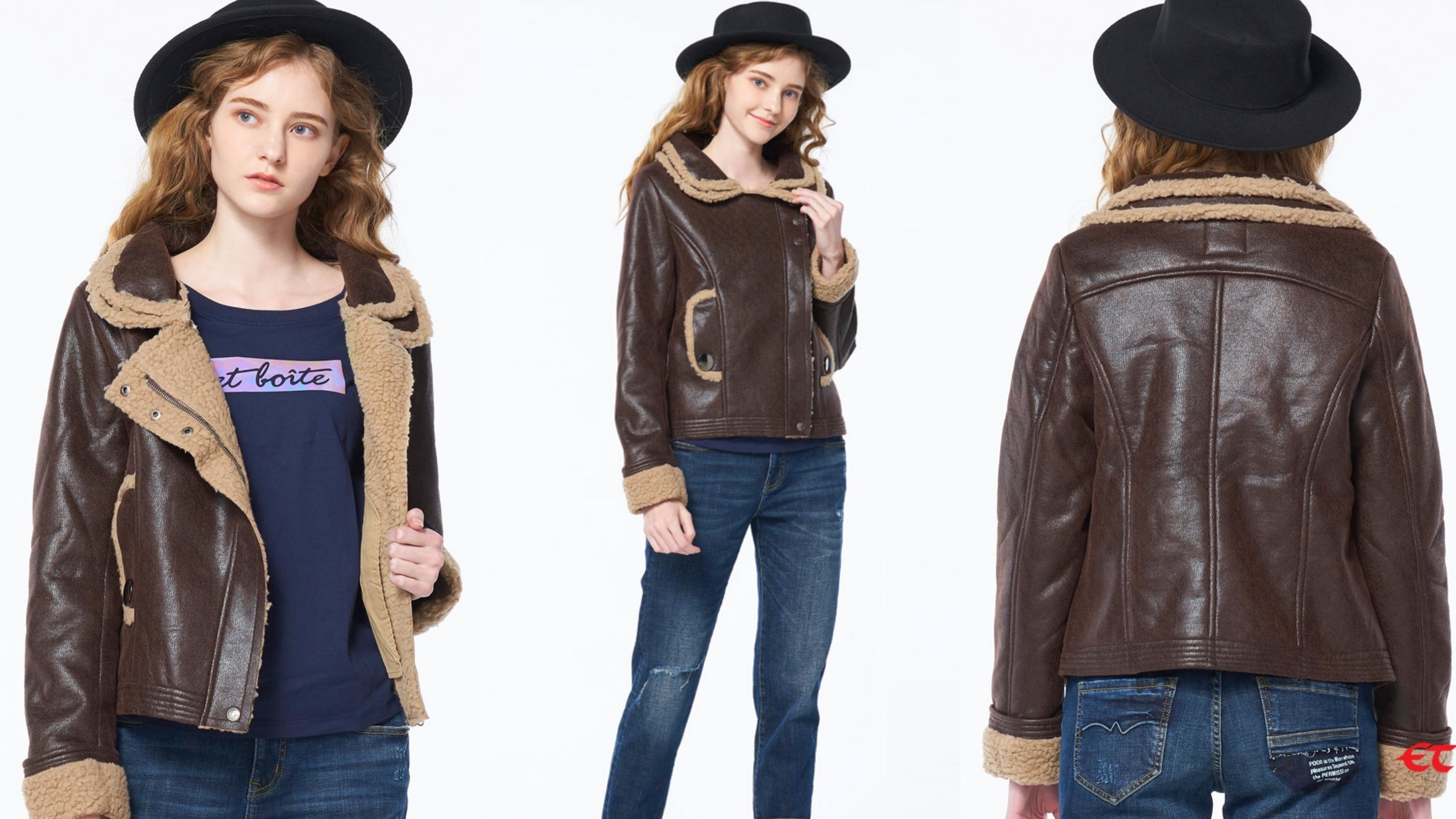 可愛中帶點帥氣的泰迪熊毛裡外套,是完美搭配的百搭基本款