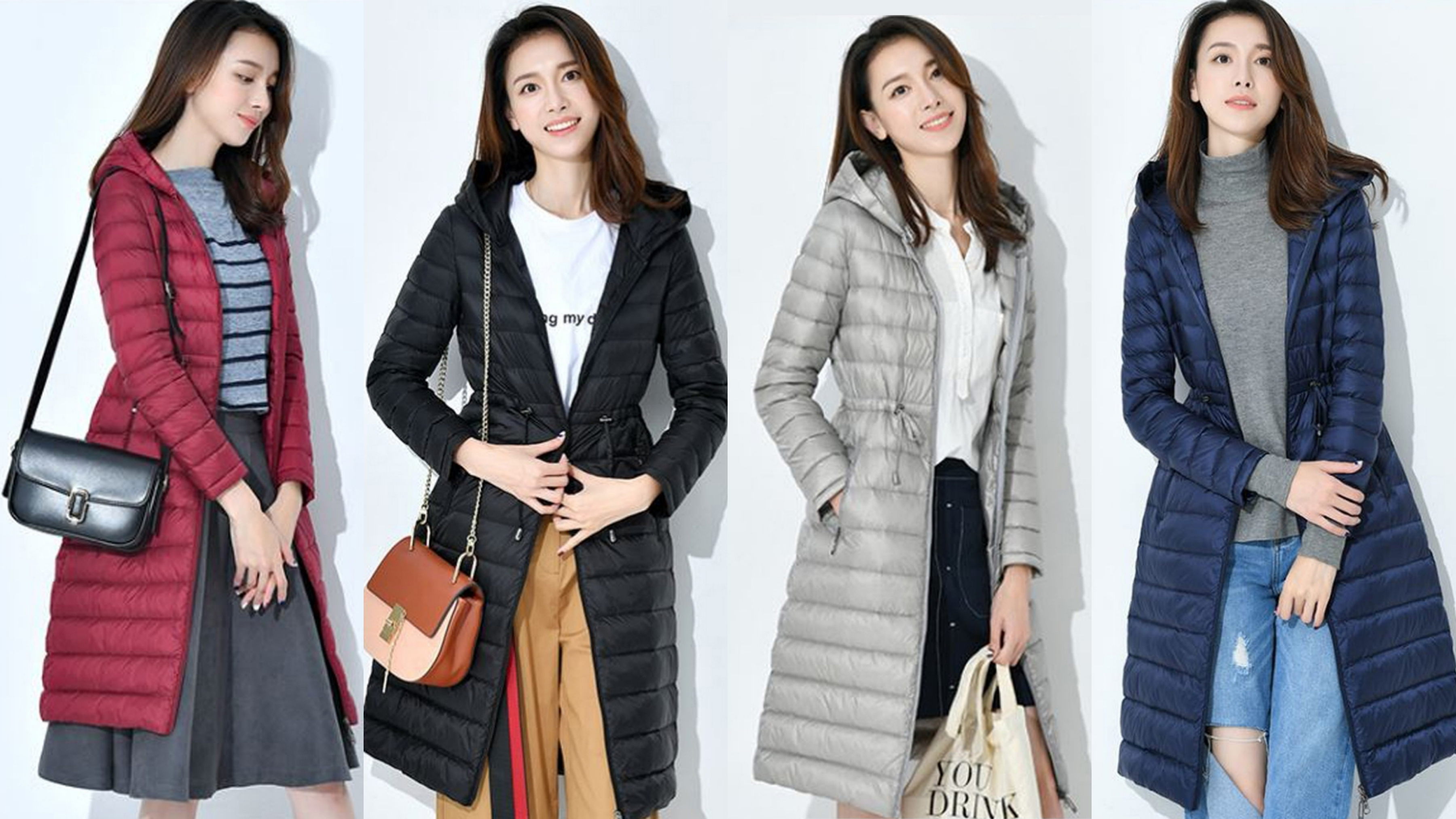 韓版設計的羽絨外套,擁有90%輕羽絨,穿上好保暖