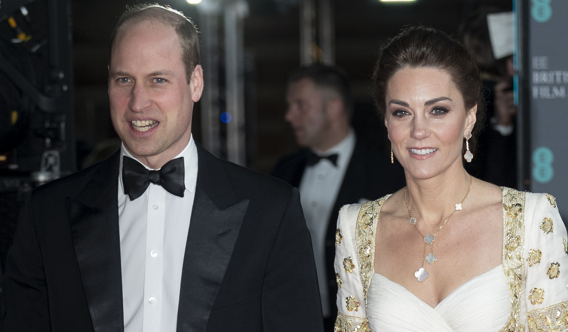 Prince William, Duke of Cambridge and Catherine, Duchess of Cambridge attend the EE British Academy Film Awards 2020 at Royal Albert Hall on February 2, 2020 in London, England. (Photo by Mark Cuthbert/UK Press via Getty Images)