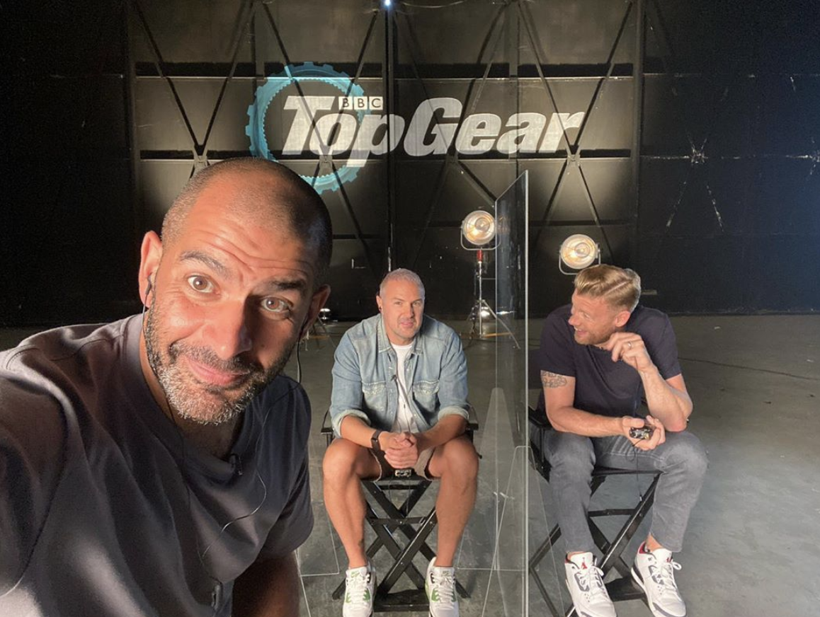 """Chris Harris, the host of """"Top Gear,"""" snaps a selfie while promoting the show. (Photo: Instagram)"""