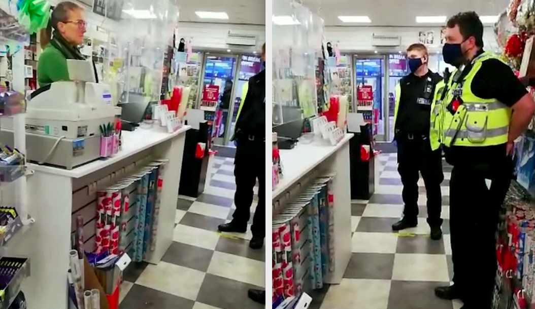 Police officers paid a visit to the shop last week to warn the owners they were breaking the lockdown rules. (SWNS)