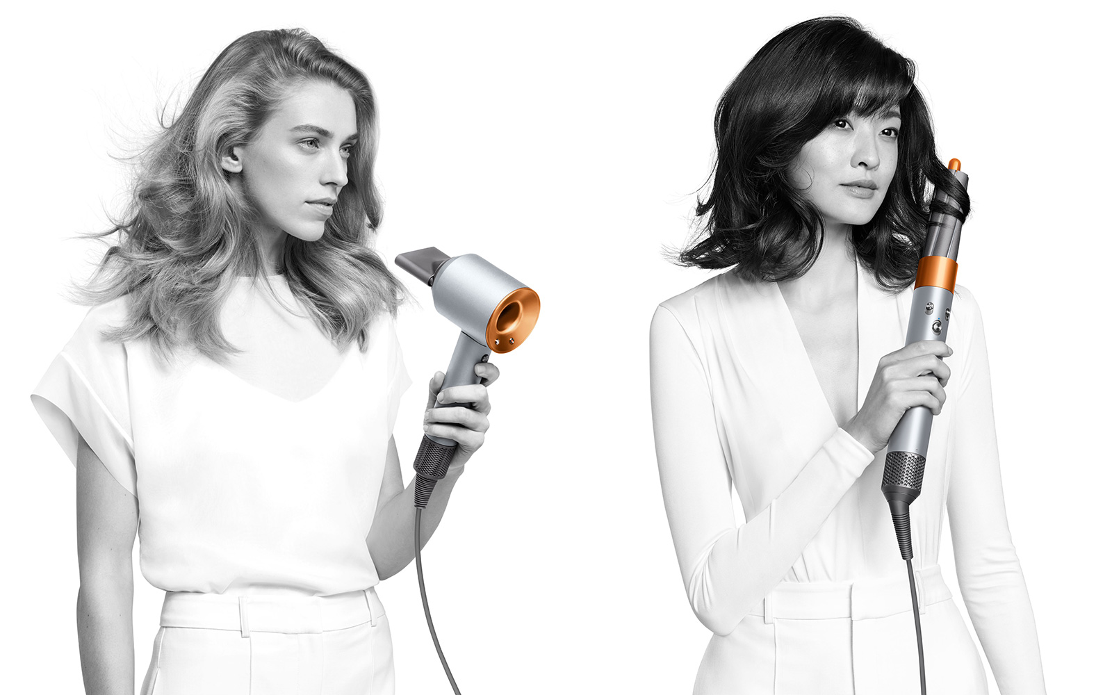 Dyson Supersonic and Airwrap copper silver edition.