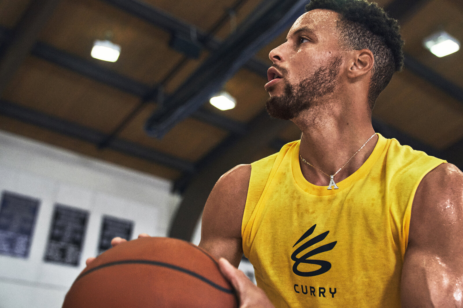Stephen Curry sports the new Curry Brand logo. (Image: Trevor Smith for Under Armour)