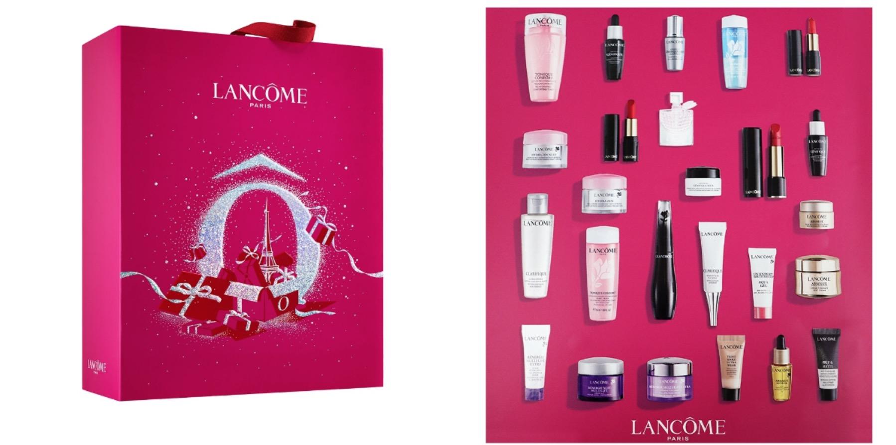 蘭蔻 2020聖誕倒數月曆,內含25個驚喜小禮,從保養到彩妝的經典人氣商品通通濃縮在這一盒倒數月曆裡,鐵粉必收。
