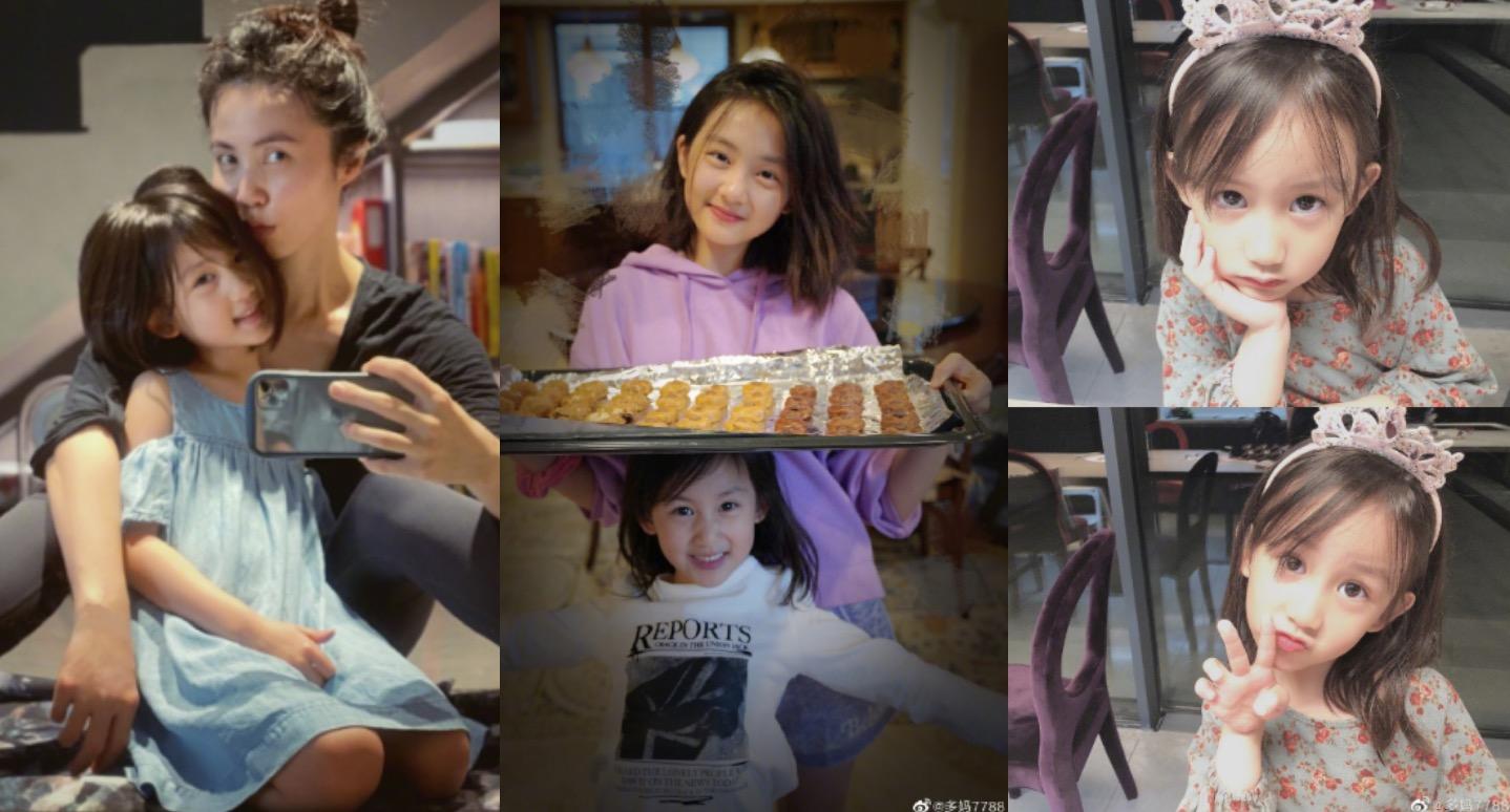 黃磊兩個女兒不同風格,但都非常漂亮