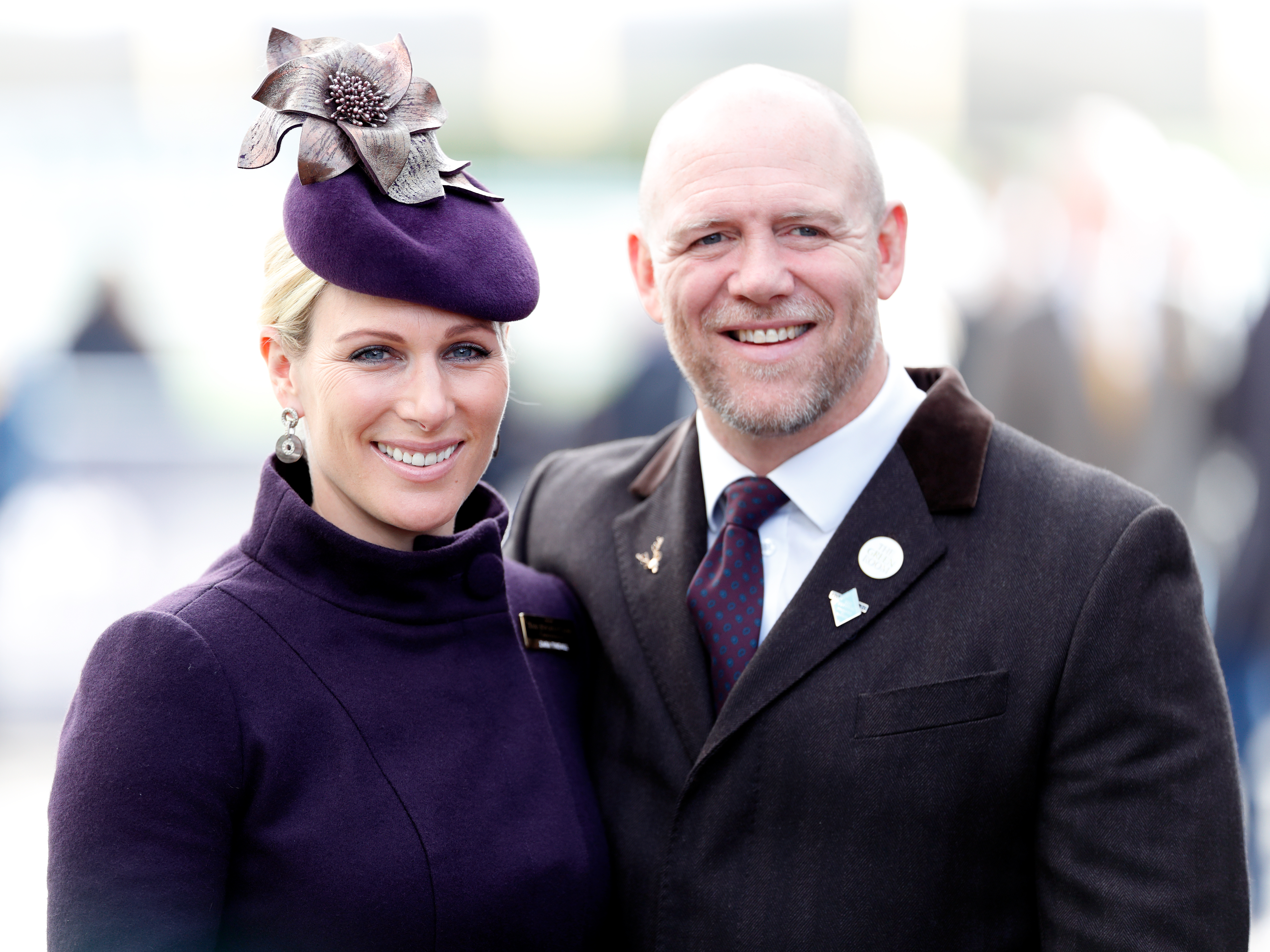 Zara Tindall and Mike Tindall attend day 4 'Gold Cup Day' of the Cheltenham Festival 2020 at Cheltenham Racecourse on March 13, 2020 in Cheltenham, England. (Photo by Max Mumby/Indigo/Getty Images)