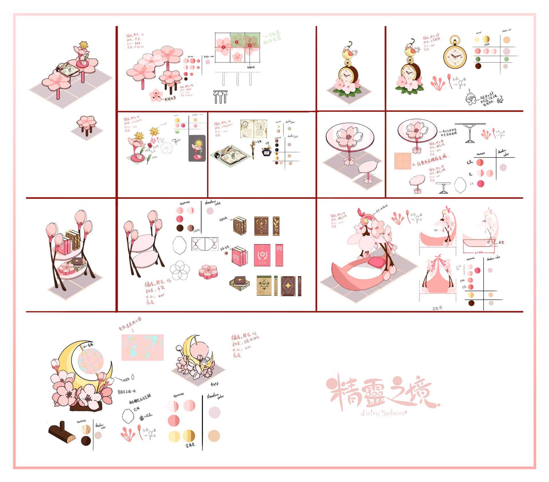 櫻花傢俱手稿圖。