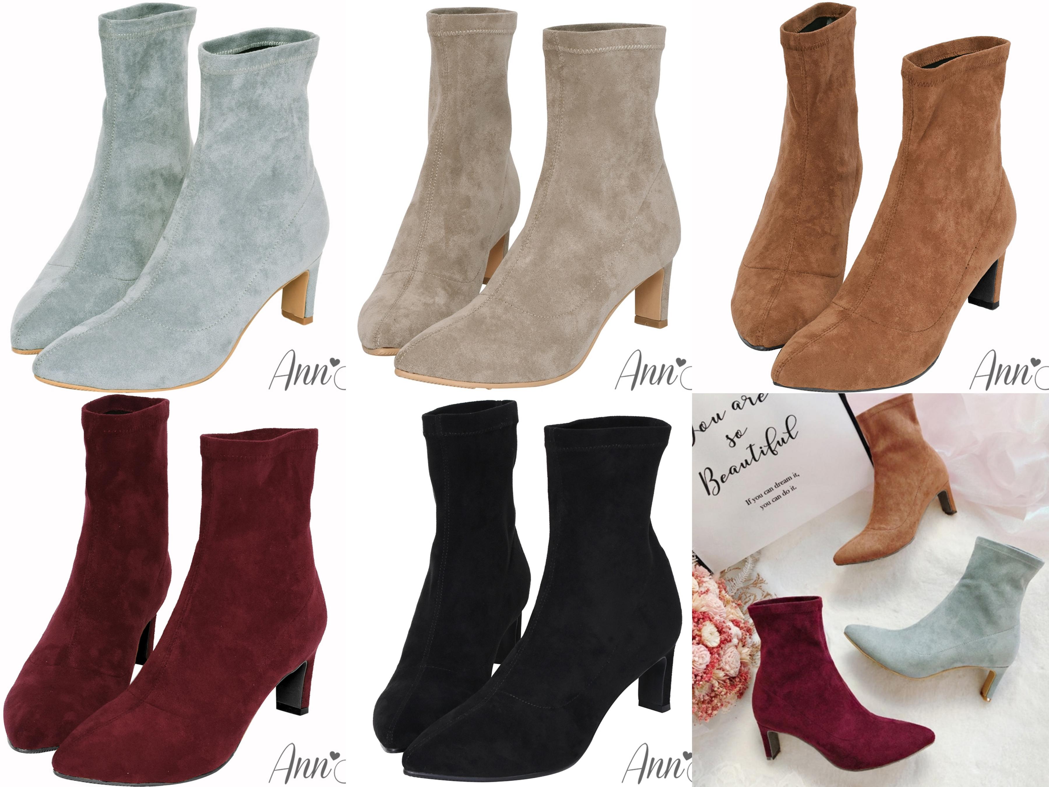 時髦女孩們都在追的襪靴,獨家防水絨布材質,好整理好保養