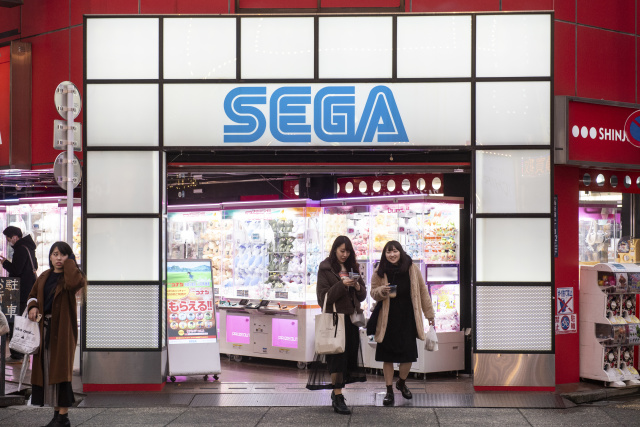 TOKYO, JAPAN - 2019/12/24: Japanese multinational video game developer and publisher, Sega seen at a gaming center in Tokyo, Japan. (Photo by Budrul Chukrut/SOPA Images/LightRocket via Getty Images)