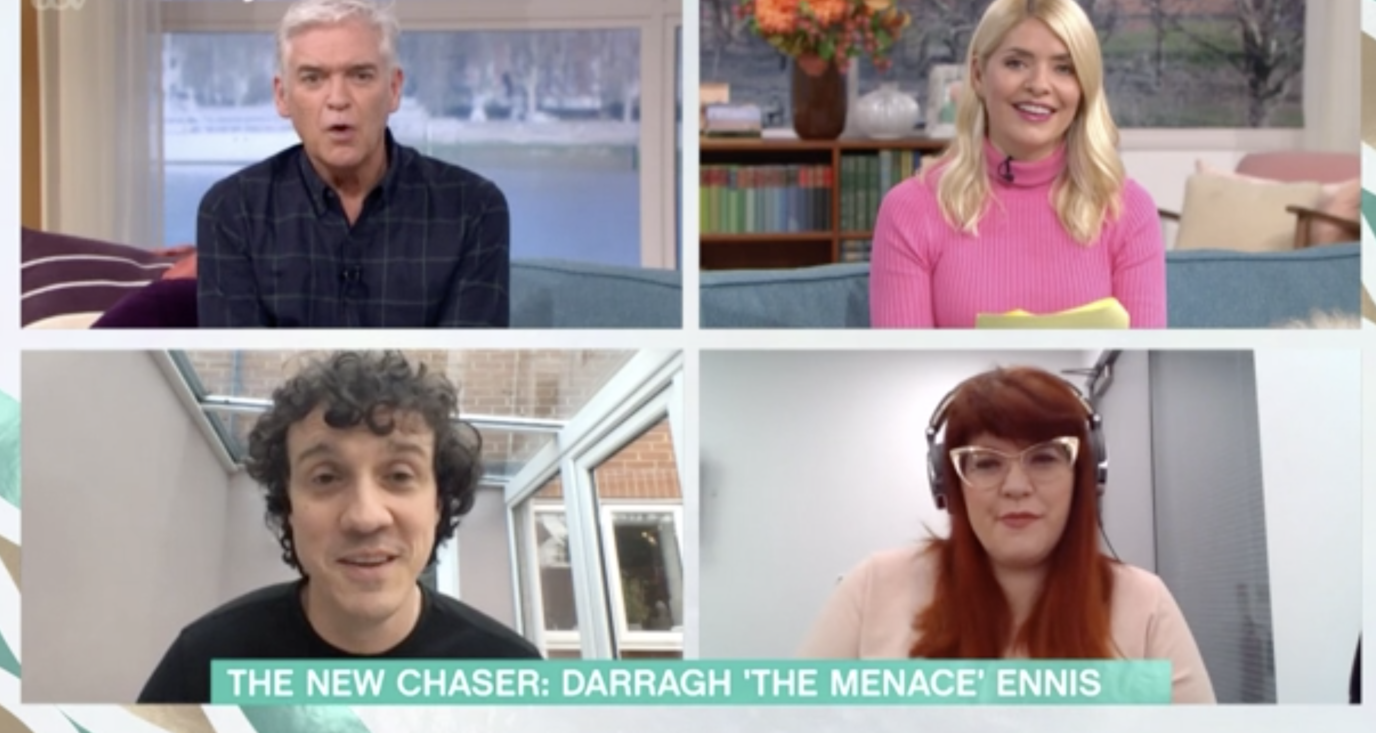 Darragh Ennis spoke about his journey to becoming a Chaser in a This Morning appearance. (ITV)
