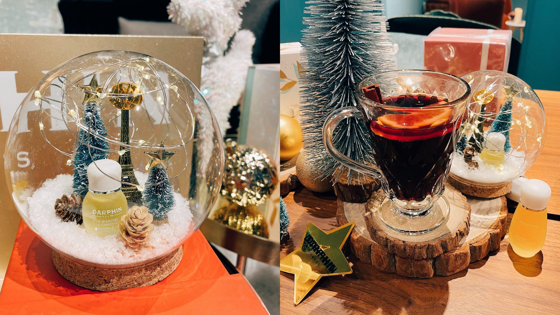 購買禮盒送雪花球,到瑪黑家居現場打卡還有熱紅酒特調兌換券。