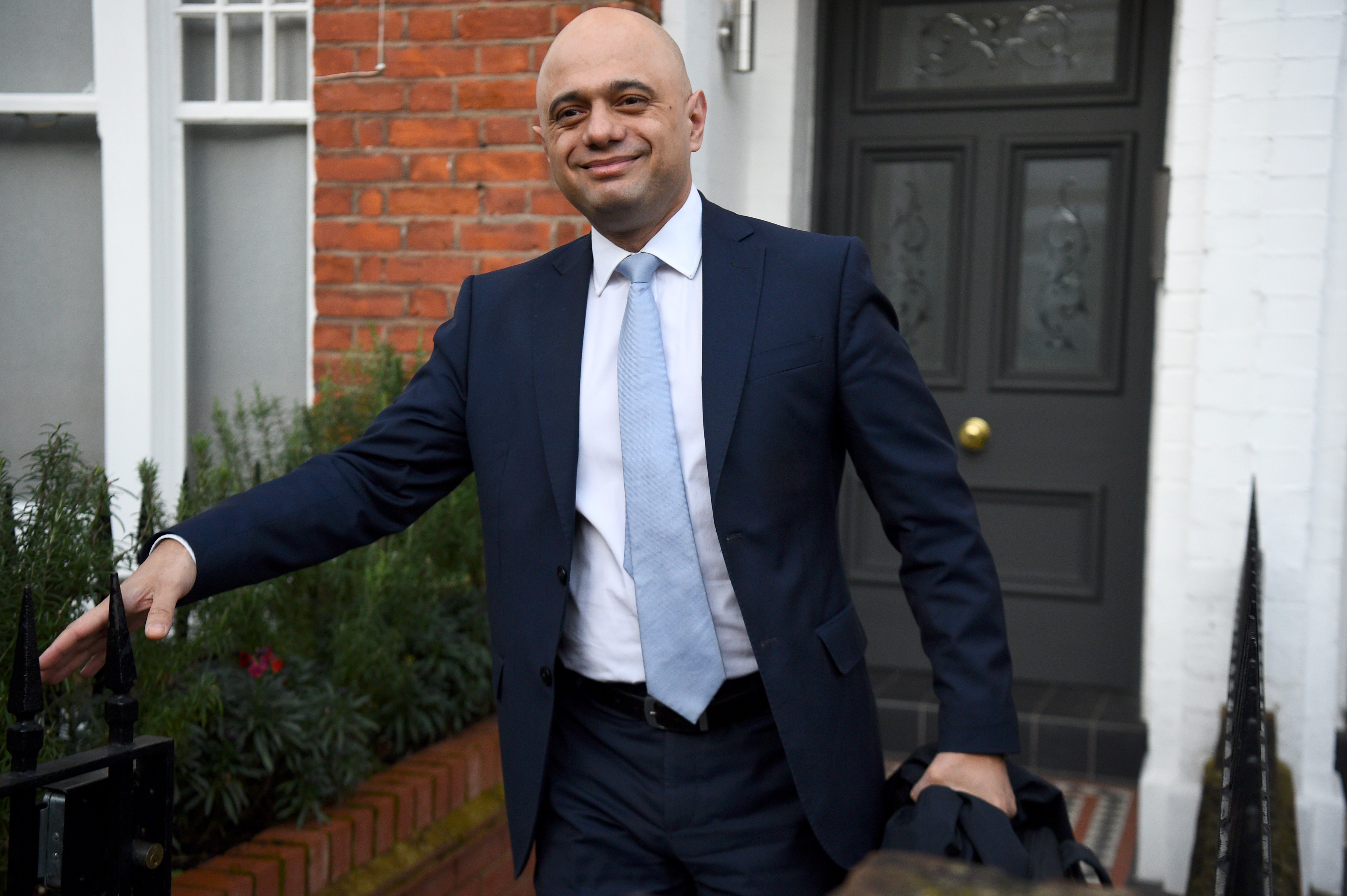 Former Chancellor of the Exchequer Sajid Javid leaving his south London home following the Cabinet reshuffle. (Photo by Kirsty O'Connor/PA Images via Getty Images)