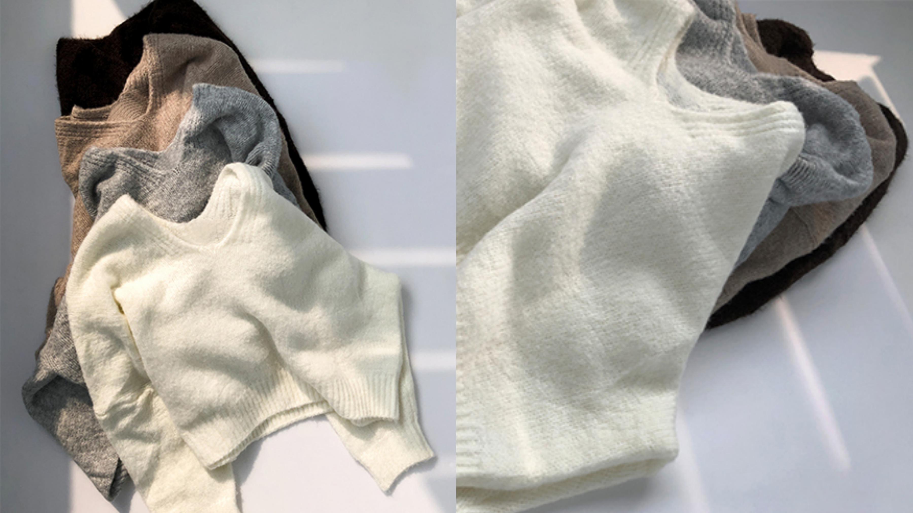 落肩寬鬆版型,加上微性感的V領設計