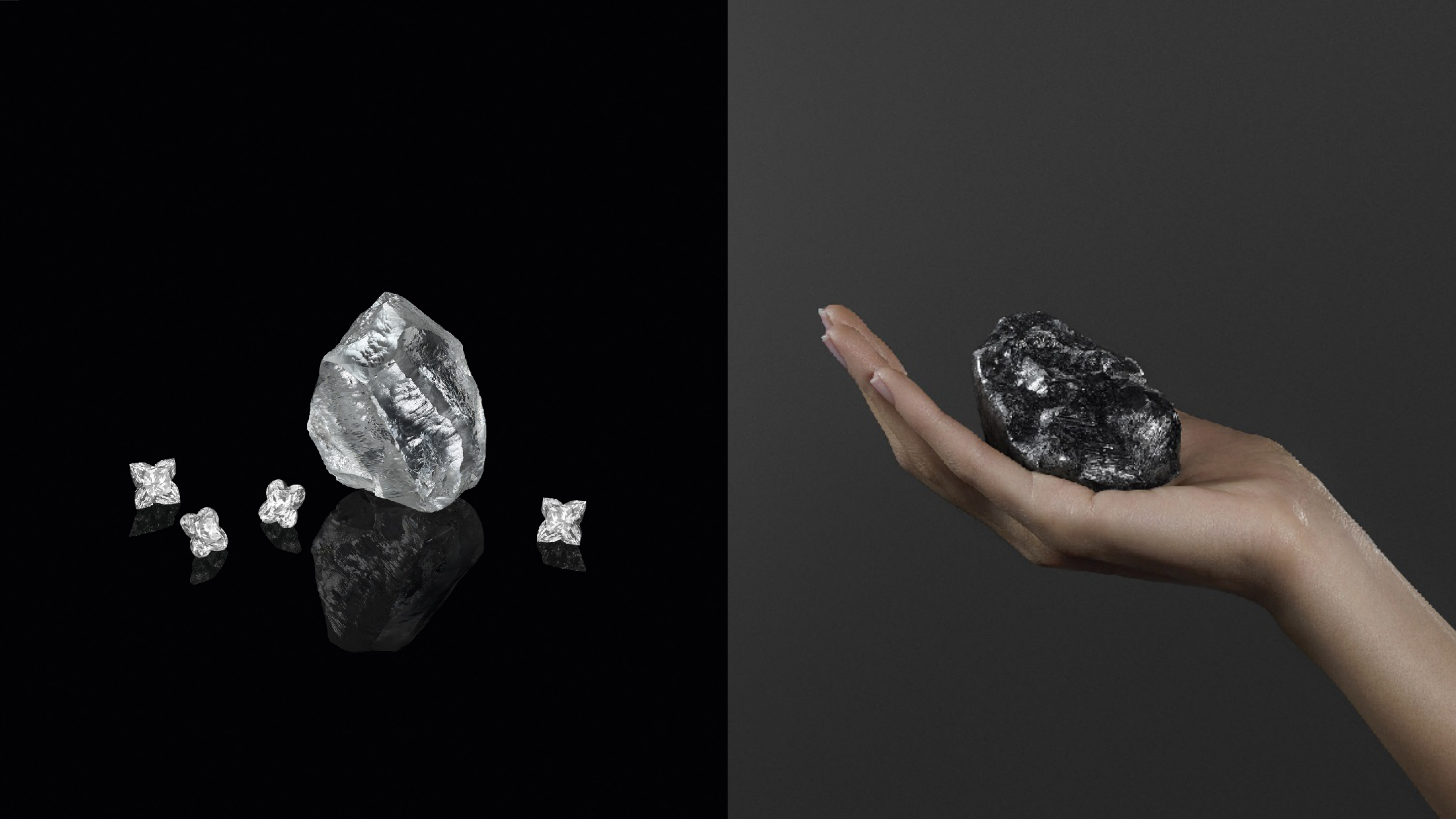 重達1758克拉的鑽石原石Sewelô,與最新發表重達549克拉的鑽石原石Sethunya