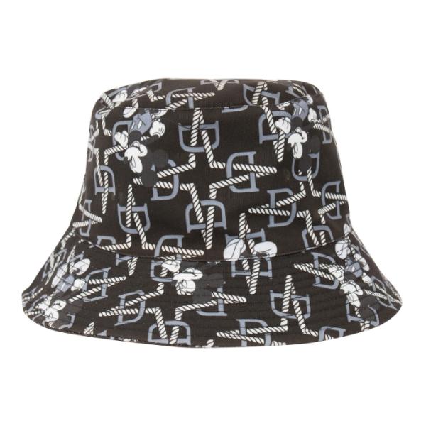 [Disney聯名限量款]漫步 米奇潮流造型漁夫帽(黑)-Daniel Wong狂野夜想系列 Daniel Wong LOGO與迪士尼印花完美結合,以大人樣的設計方向