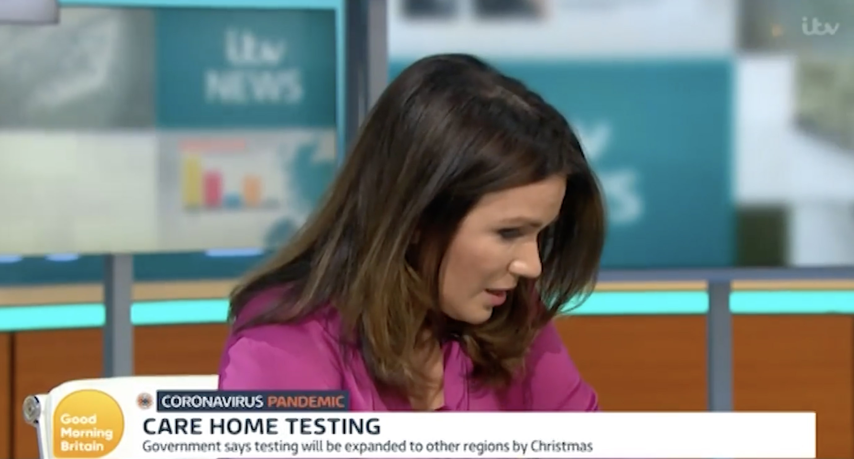 Susanna Reid was visibly moved on the show. (ITV)