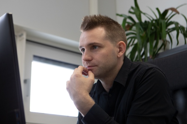 "Austrian data protection activist Max Schrems is pictured during an interview with AFP in Vienna on July 16, 2020. - A crucial online data arrangement between Europe and the US was invalidated on July 16, 2020, as a top EU court decision over Facebook threw trans-Atlantic big tech into legal limbo. The decision stemmed from a legal complaint by Austrian activist Max Schrems, who in 2015 scuppered a previous EU-US deal on which tech giants depended to do business. ""It seems we scored a 100 percent win,"" Schrems said on Twitter. (Photo by ALEX HALADA / AFP) (Photo by ALEX HALADA/AFP via Getty Images)"