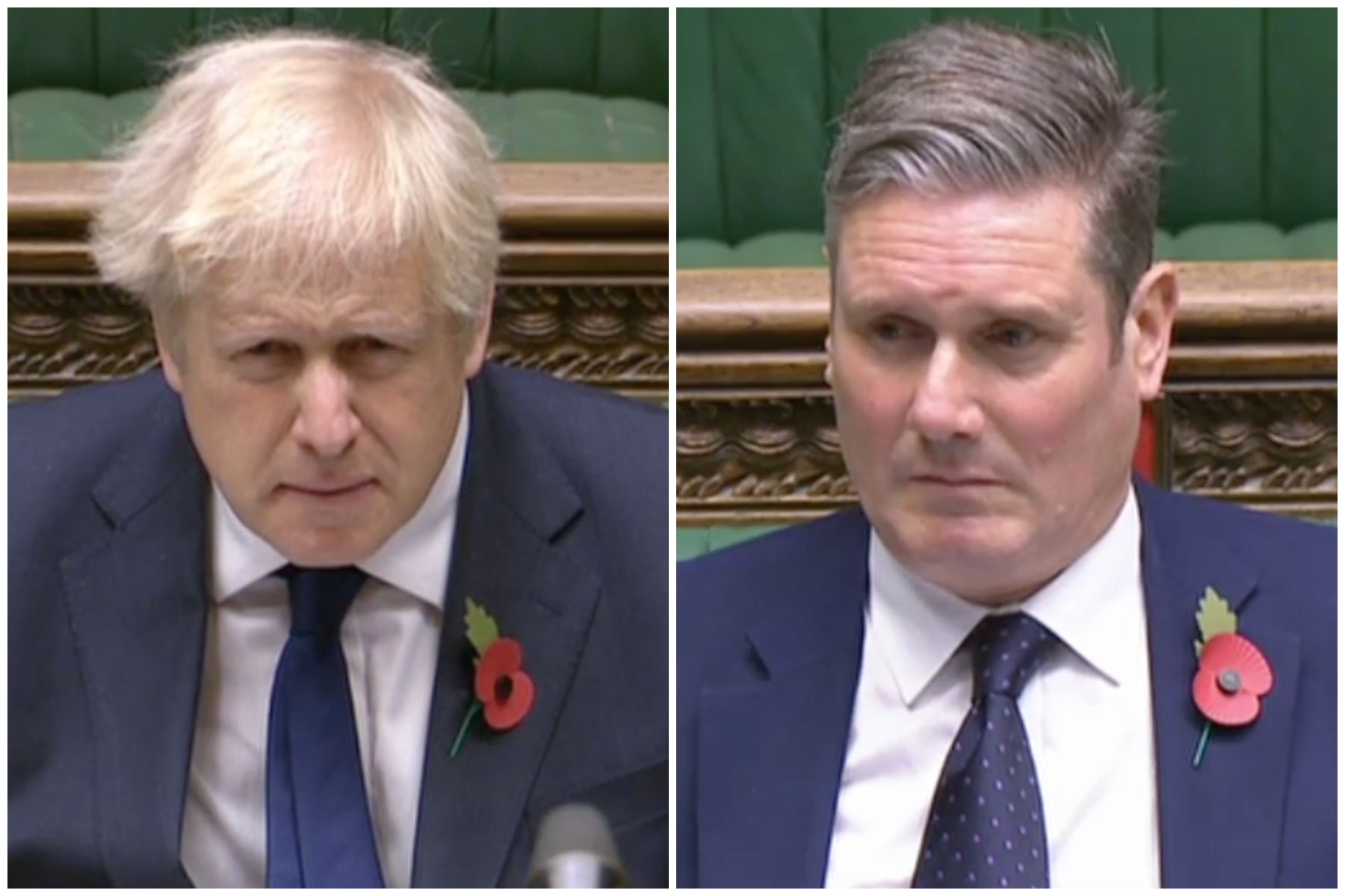 Boris Johnson was accused by Keir Starmer at PMQs of 'spraying money at companies who don't deliver'. (Parliamentlive.tv)