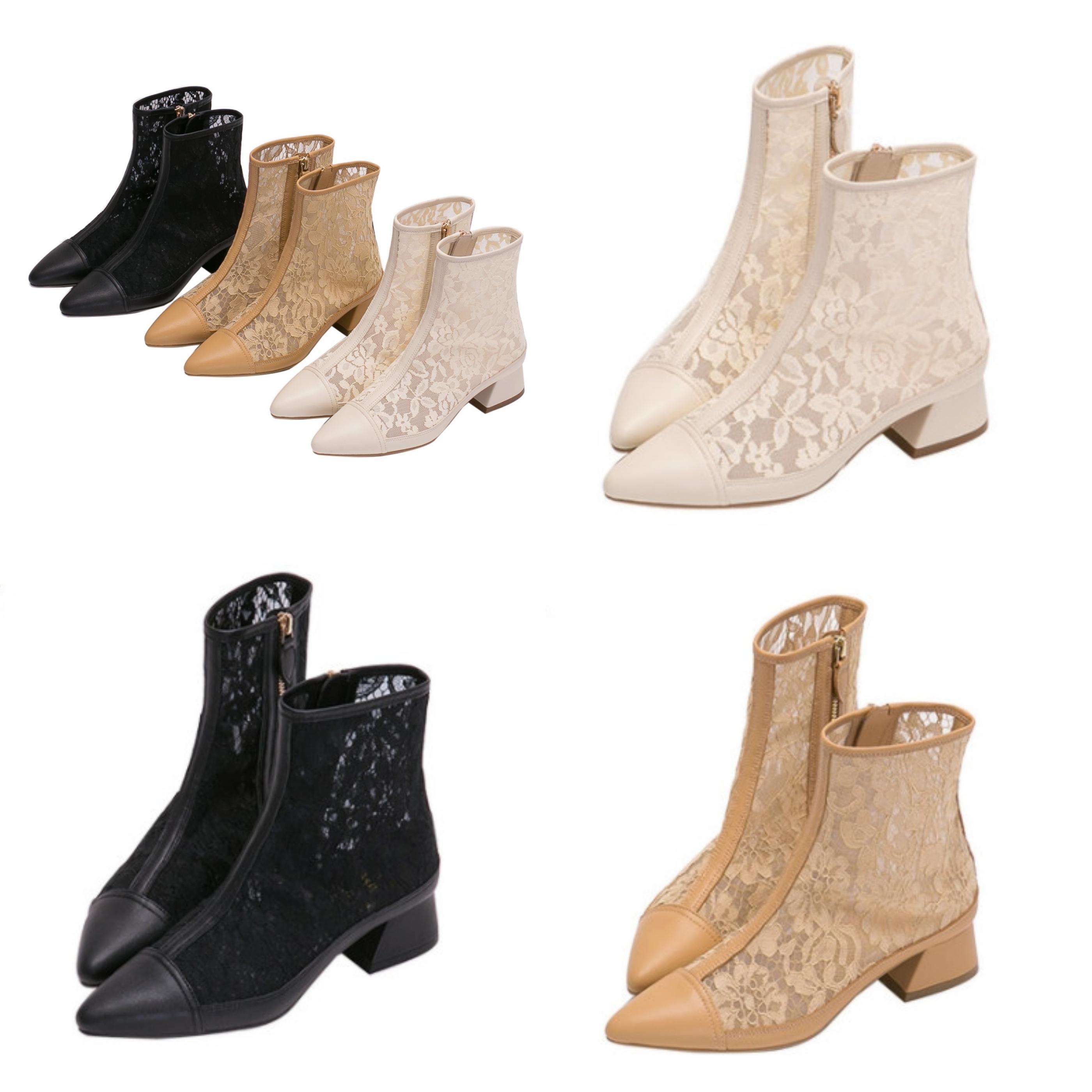 細緻優雅雕花蕾絲打造鞋面,微透膚材質嶄露小女人性感