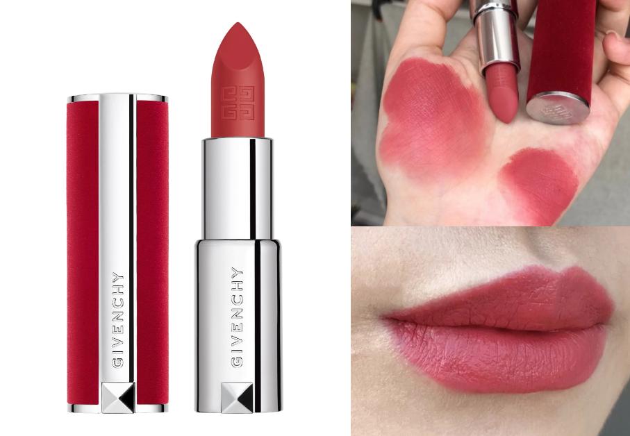 Givenchy香吻誘惑紅絲絨唇膏3.4g 售價$1,300/支 (新款7色) #12赤裸玫瑰/#27紅色幻想