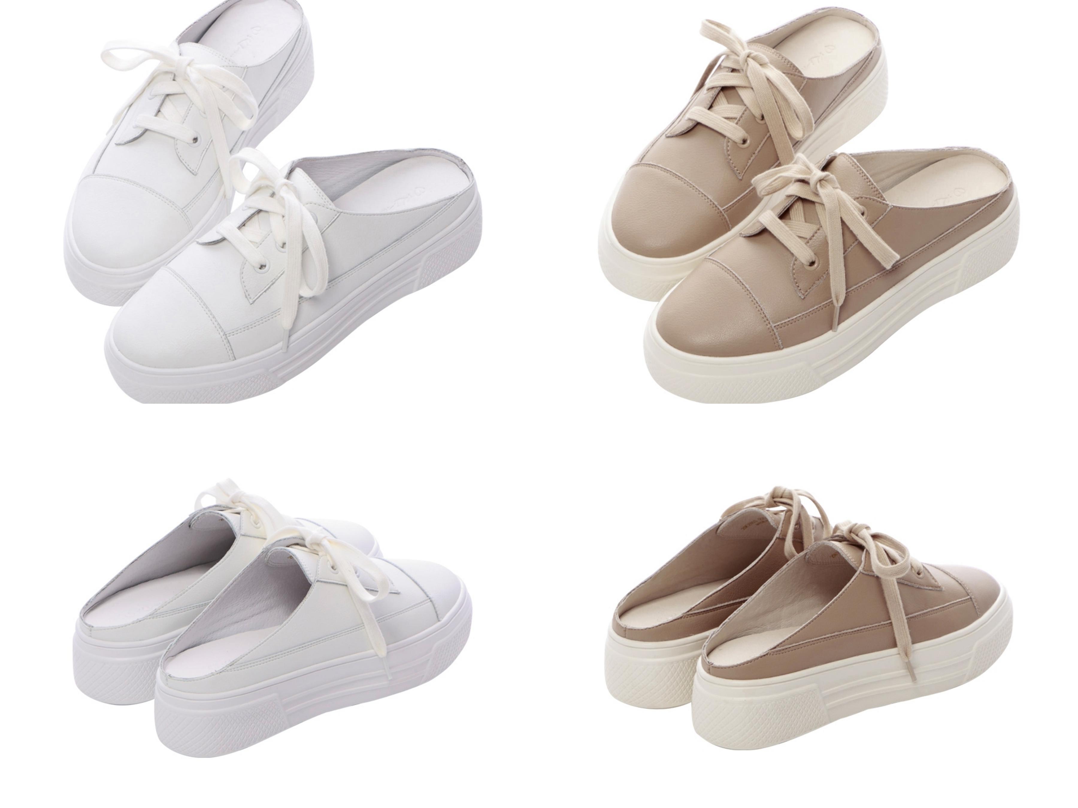 高級全真皮打造經典休閒鞋款,真皮透氣內裡x聯名LOGO腳墊