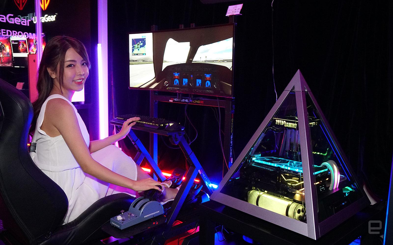 LG UltraGear 38GN950 電競螢幕 + Azza Pyramid 804 + Zotac RTX 2080 Ti ArcticStorm。