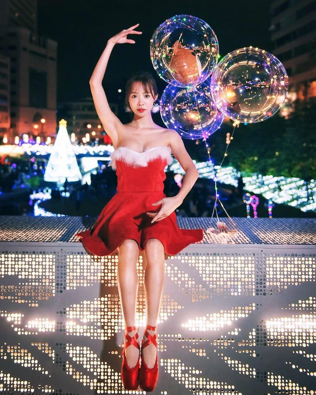 ▲擅長各種舞蹈的康茵茵,常會透過曼妙舞姿拍照留念。
