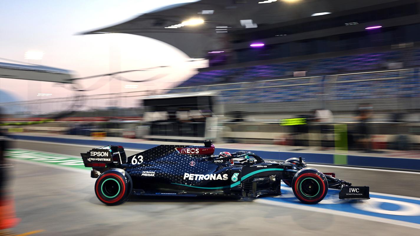 Sakhir GP自由練習一Russell以Mercedes賽車排第一