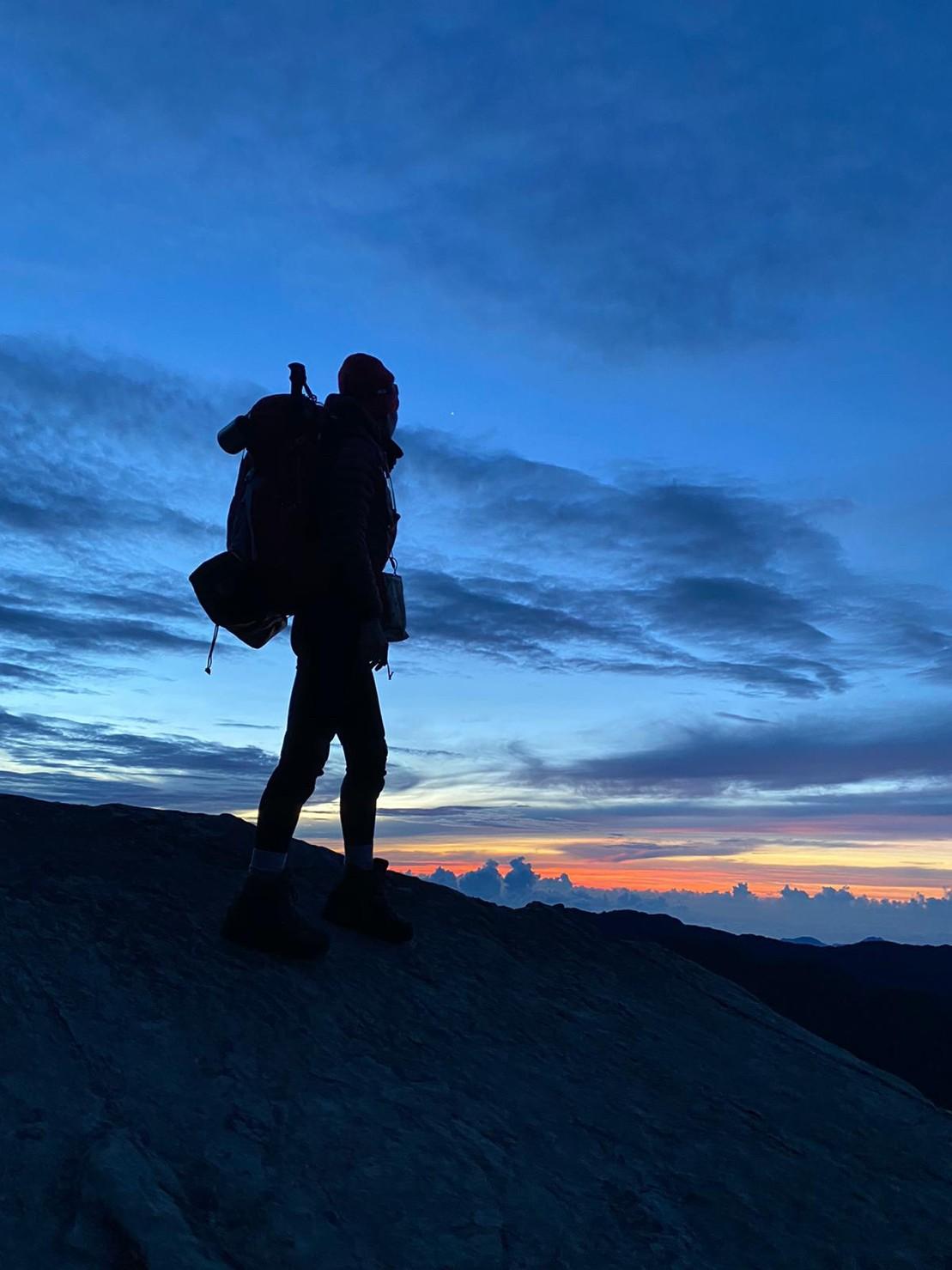 ▲喜愛山的房思瑜認為,登山雖然辛苦,但卻非常療癒心靈。